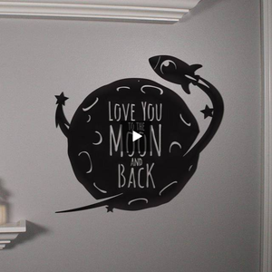 love,you,moon,back,steel,wall,art,hanging,sign,home decor