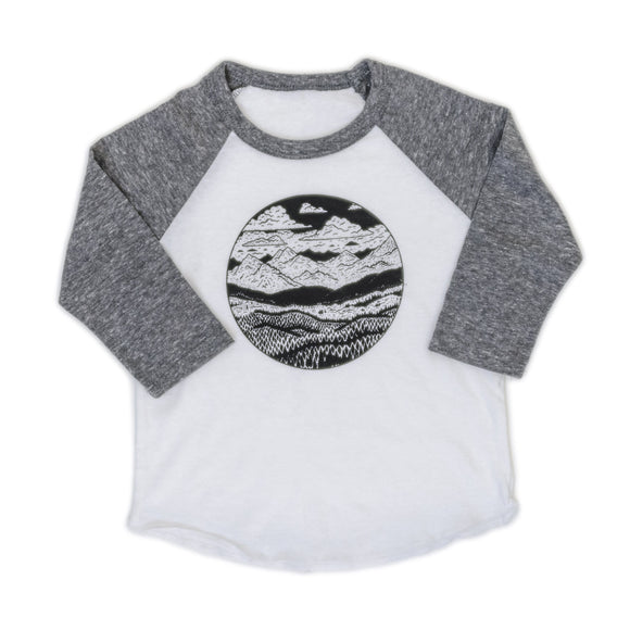 kids,mountain,range,tee,shirt,t-shirt,raglan,baseball
