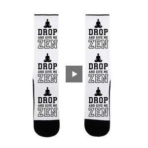 socks,gift,funny,zen,yoga,women,lookhuman,adult,unisex,white,black