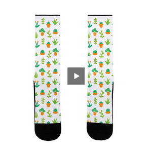 socks,gift,plant,lookhuman,lover,cute,adult,unisex,white,green
