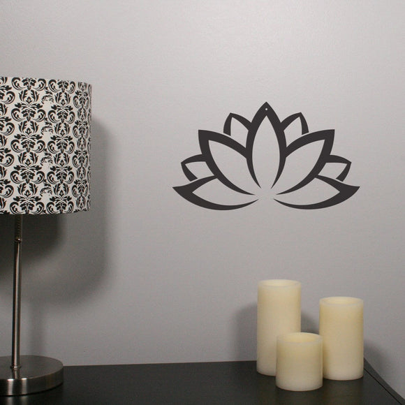 lotus flower,steel,wall,art,sign,hanging,home decor