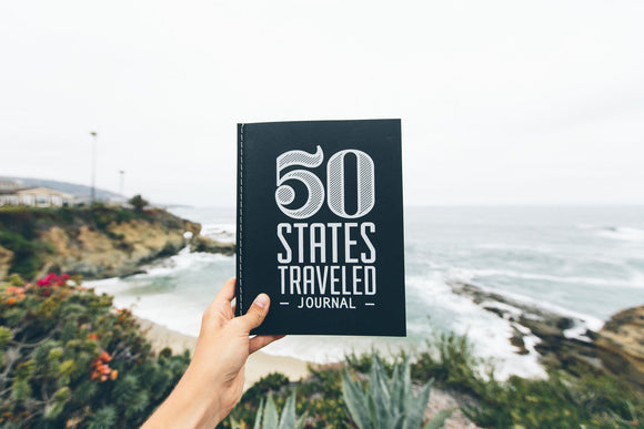 50,states,traveled,journal,notebook