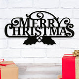 merry,Christmas,steel,sign,wall,art,hanging,home decor
