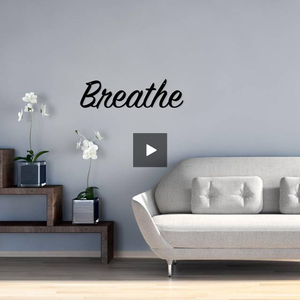 breathe,steel,wall,art,hanging,sign,home decor