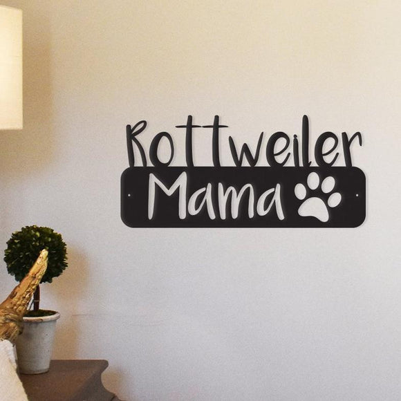 steel,rottweiler,mama,wall,art,hanging,sign