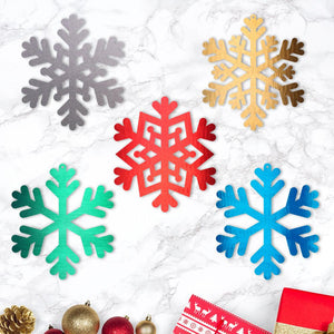 snowflakes,steel,wall,art,hanging,Christmas,home decor