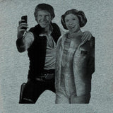 star,wars,selfie,hans,solo,princess,leia,tee,shirt,t-shirt,men's
