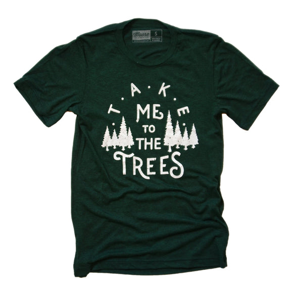 shirt,tee,trees,gift,handmade,made in USA,Moore