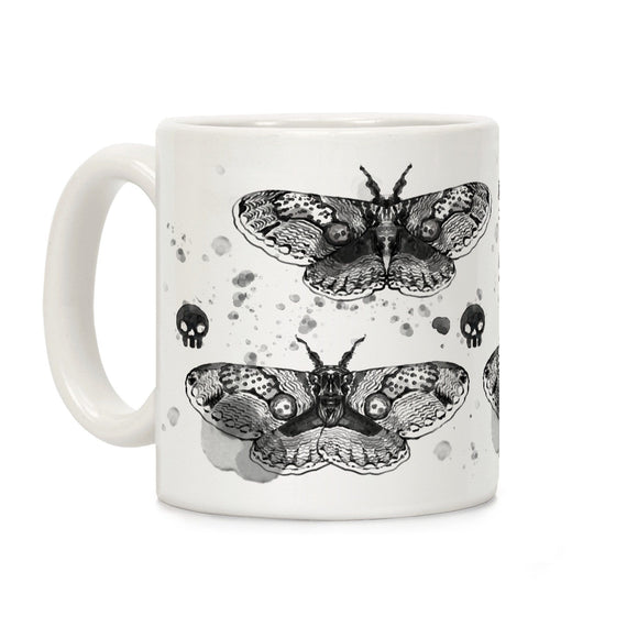 dead,head,moth,coffee,mug,cup,ceramic