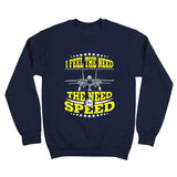 need,speed,crewneck,sweatshirt,adult,unisex,blue