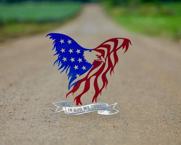 gift,home decor,eagle,flag,steel,metalwork,patriotic