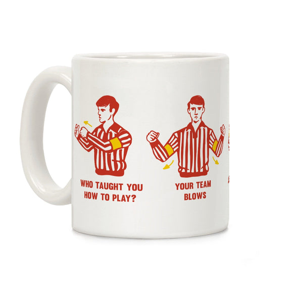 funny,referee,hand,signals,coffee,mug,cup,ceramic