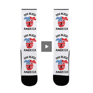 dog,bless,america,socks,red,white,blue,unisex,adult