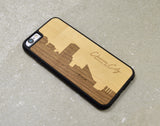 city,skyline,wood,iphone,case,cell,phone,handmade,autumn,summer