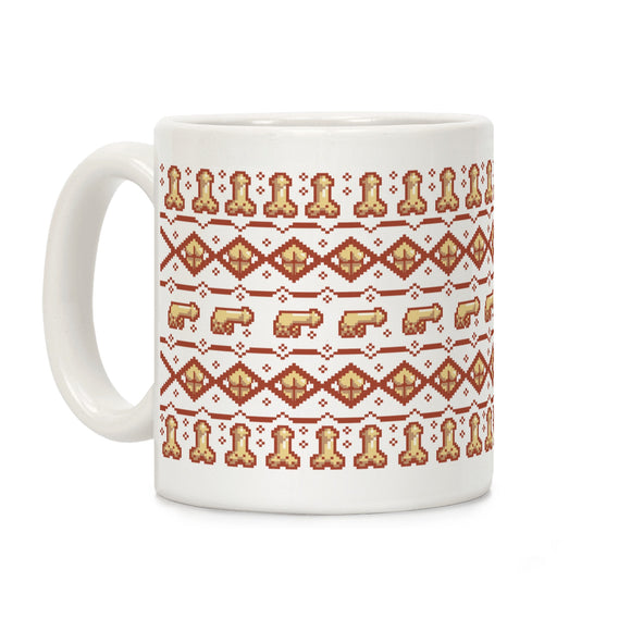 dicks,butts,ugly,sweater,pattern,coffee,mug,cup,ceramic,penis,ass
