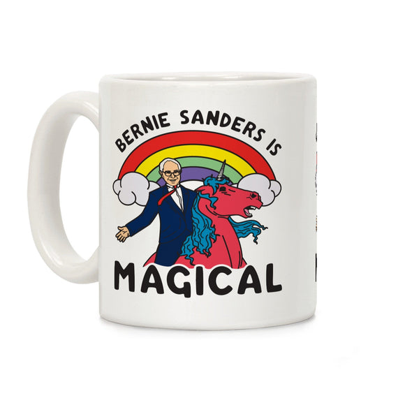 bernie,sanders,magical,coffee,mug,cup,ceramic