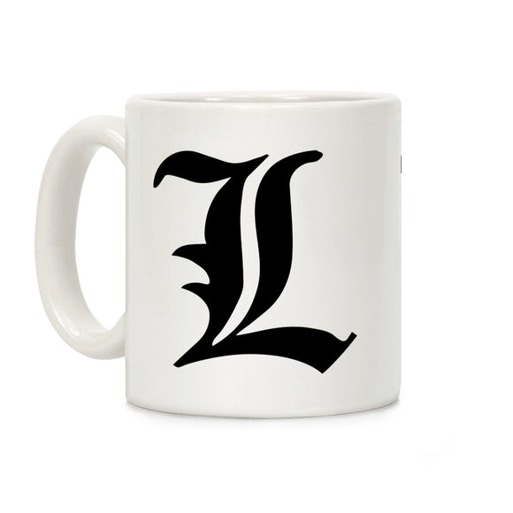 coffee,mug,death,note,L,insignia,lookhuman