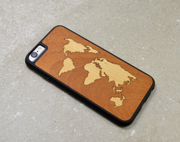 iphone,case,world,map,wood,handmade,autumn,summer