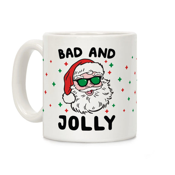 coffee,mug,gift,bad,jolly,Santa,Christmas,lookhuman