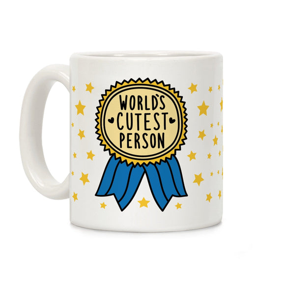 world's,cutest,person,coffee,mug,ceramic,cup