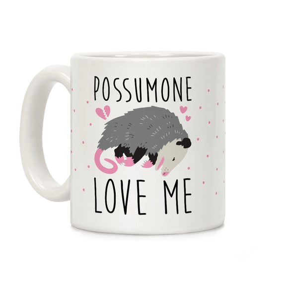 possum,love,me,coffee,mug,possumone,ceramic,cup