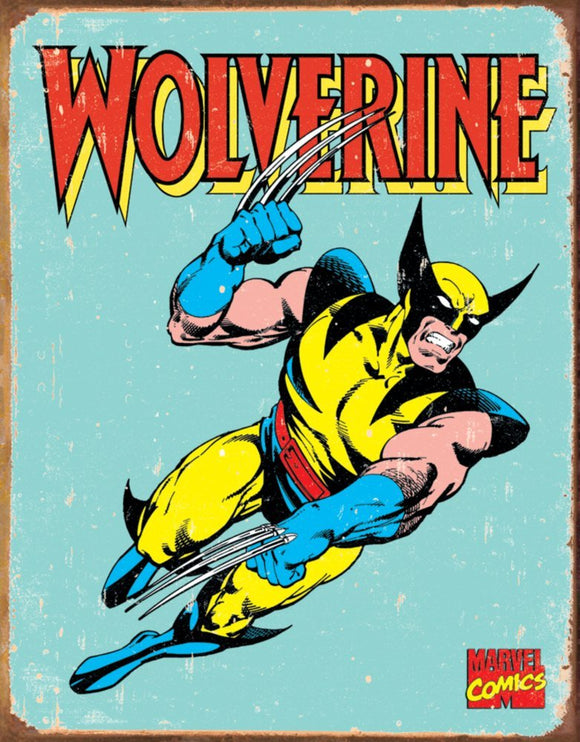 The Wolverine Vintage Tin Sign 8x10