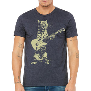 cat,playing,guitar,tee,shirt,t-shirt,tshirt,men's.mission,thread