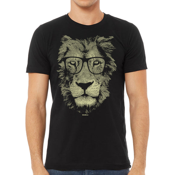 lion,wearing,glasses,tee,shirt,t-shirt,tshirt,mens,mission,thread