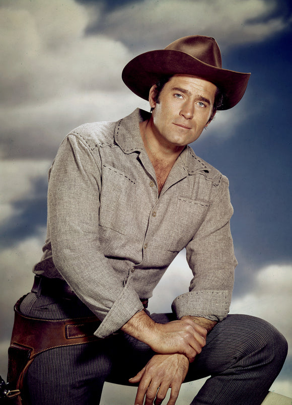 8 x 10  Inch Diameter  Tin Sign Clint Walker Cheyenne