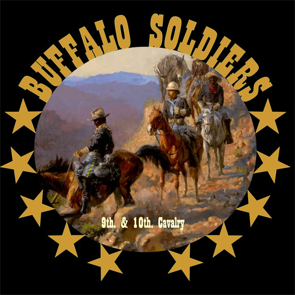 11 Inch Diameter Tin Sign All Aluminum Buffalo Soldiers