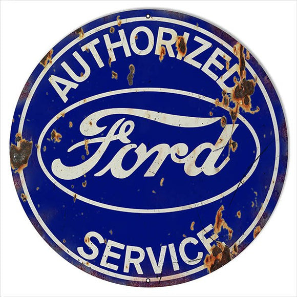 Authorized FordService Vintage Tin Sign