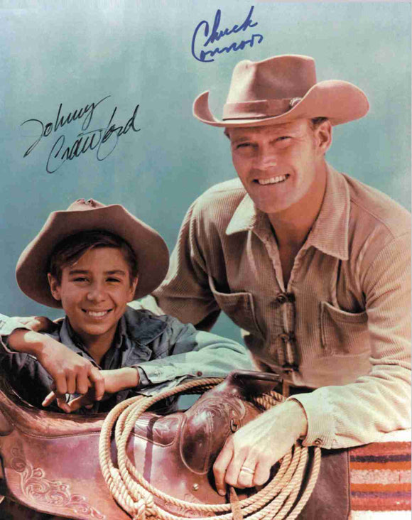 8 x 10  Inch Diameter Tin Sign Chuck Connors The Rifleman