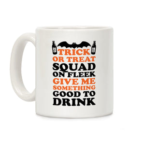 trick or treat,Halloween,fleek,squad,coffee,cup,mug,gift