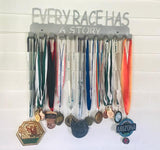 Every Race Has a Story Steel Medal Display Hanger