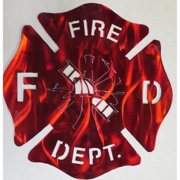 gift,home decor,firefighter,steel,badge,sign,wall hanging,handmade,metalwork