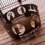 Personalized Fire Pit Ring Metal Yard Decor