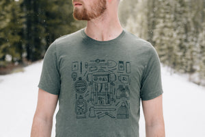camping,forestry,gear,colorado,tee,shirt,t-shirt,black,unisex