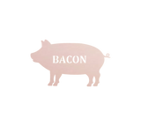 pig,bacon,steel,wall,art,home decor,hanging