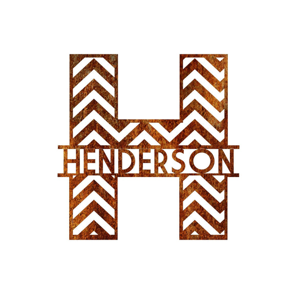 personalized,customized,chevron,steel,wall,art,home decor
