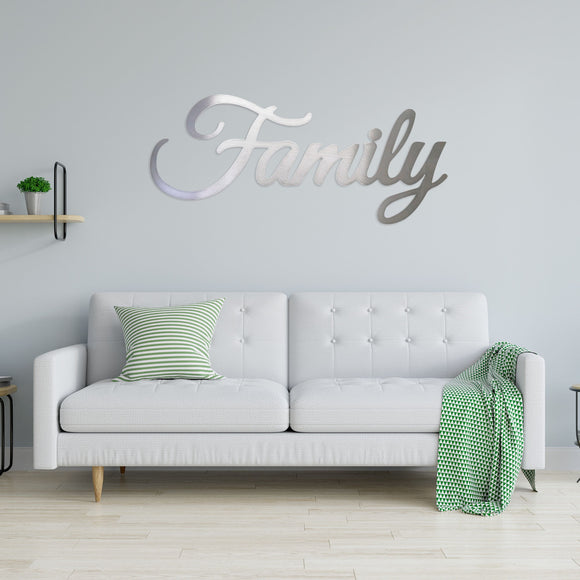 family,steel,wall,art,home decor,sign