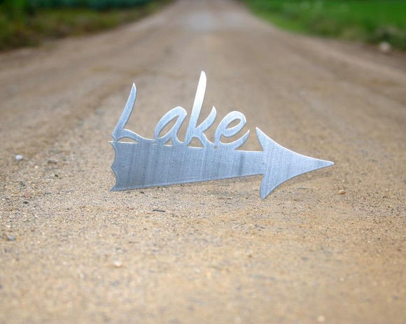 lake,arrow,steel,sign,wall,art,home decor