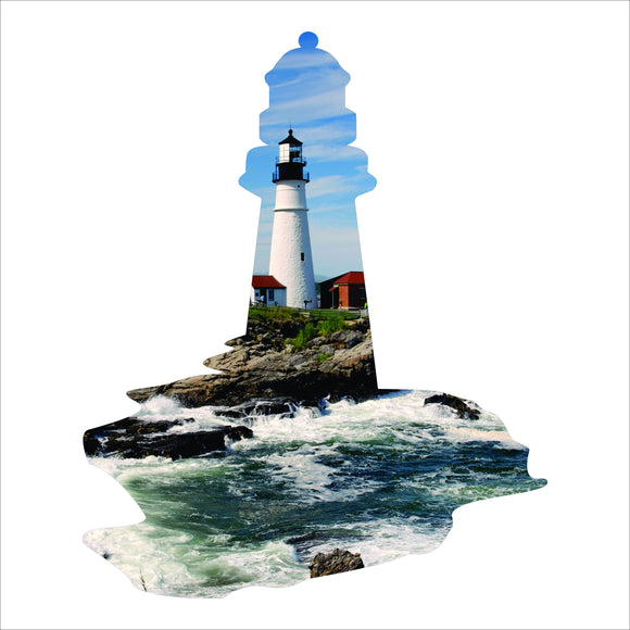 gift,home decor,lighthouse,New England,handmade,steel,sign,metalwork,wall hanging