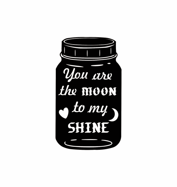 Moon to My Shine Mason Jar Metal Wall Decor