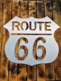 gift,sign,route 66,home decor,steel,metalwork,handmade