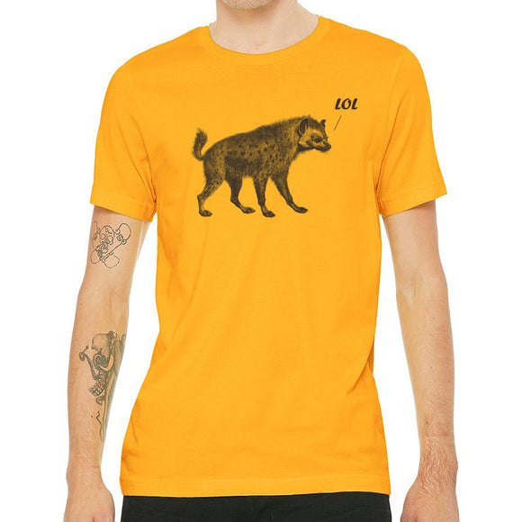 shirt,tee,men's,gift,hyena,lol,bella