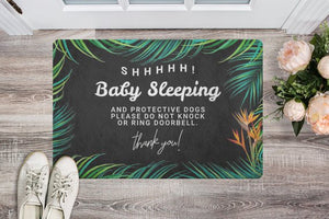 door,mat,welcome,doormat,baby sleeping,dont ring