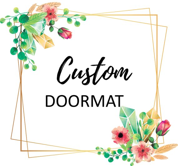 welcome,door,mat,customized,personalized,home decor