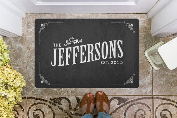 customized,personalized,welcome,door,mat,home decor,sublimation
