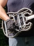 steel,guitar,scrap,metal,electric,style,recycled,art