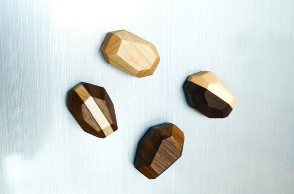geometric,magnets,wood,handmade,iron,roots,design